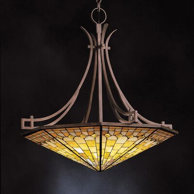 Pompeian 6 Light Mosaics Inverted Pendant