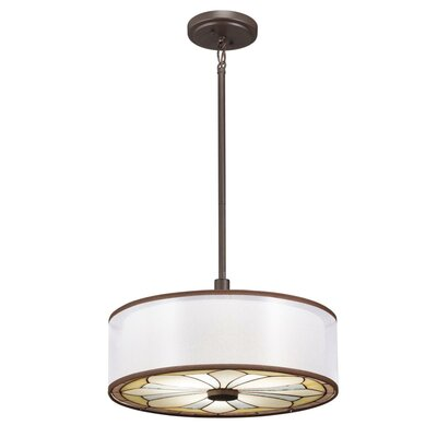Kichler Louisa Semi Flush Drum Pendant