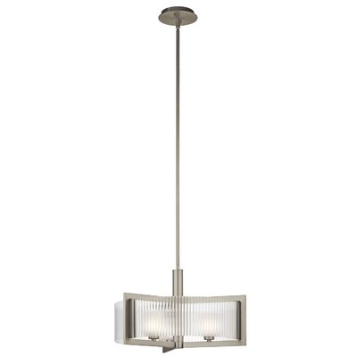 Kichler Rigate 3 Light Semi-Flush Mount Pendant
