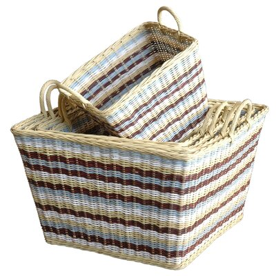 Jeffan Funstripes Misty Basket (Set of 5)