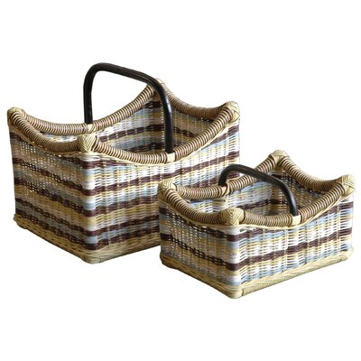 Jeffan Funstripes Misty Magazine Holder (Set of 2)