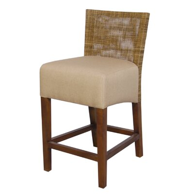 Jeffan Karyn Counter Stool in Medium Antique Brown