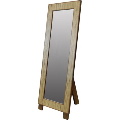Habitat Rectangular Floor Mirror in Medium Brown
