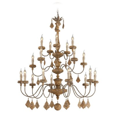 Calais 20 Light Candle Chandelier
