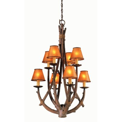 Troy Lighting Cheyenne 8 Light Entry Chandelier