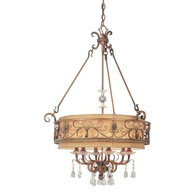 Troy Lighting Heirloom 6 Light Drum Foyer Pendant