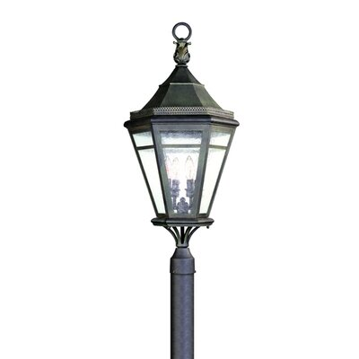 Troy Lighting Morgan Hill  Post Lantern in Natural Rust