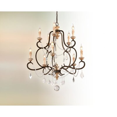 Bordeaux 10 Light Crystal Chandelier