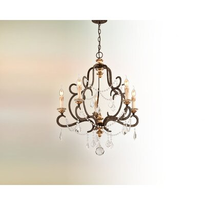 Bordeaux 5 Light Crystal Chandelier
