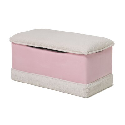 Deluxe Toy Box in Pink Micro With Sherpa Trim