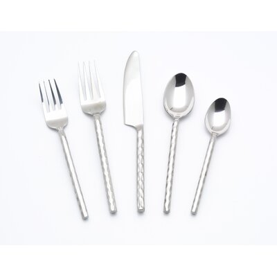 Hammered 5 Piece Flatware Set