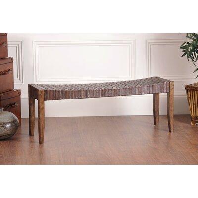 Hokku Designs Bury Wood Bench | Wayfair