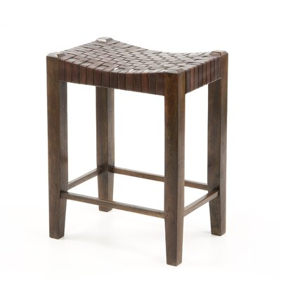 "William Sheppee Saddler 26"" Counter Stool in Walnut Stain"