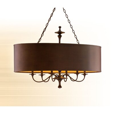 Bryant Park 6 Light Kitchen Island Drum Pendant