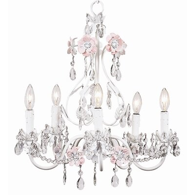Jubilee Collection  Flower Garden Chandelier with Optional Shade and Sash