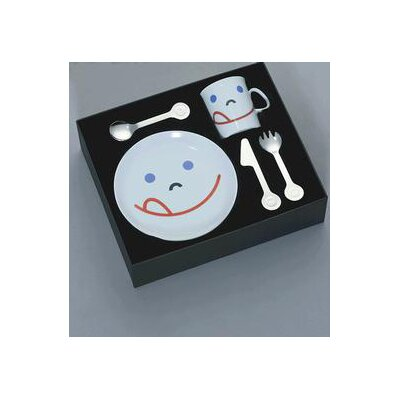 mono Mono Kids Flatware with Smile Child's (Set of 5) by Peter Raacke