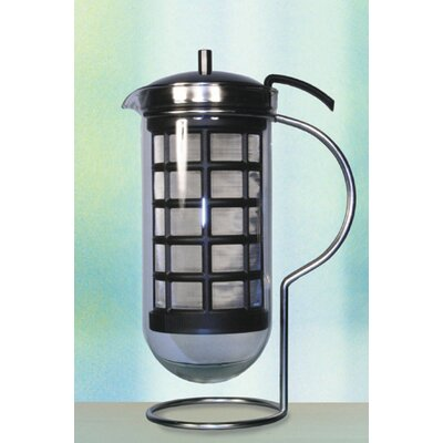 Mono Cafino Coffee Maker with Plastic Strainer in Black by Tassilo von Grolman