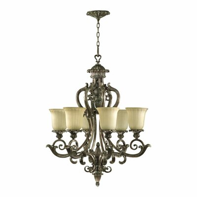 Quorum Barcelona  Chandelier in Mystic Silver