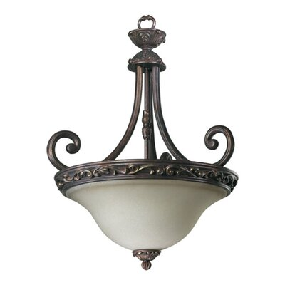 Quorum Chelsea 3 Light Inverted Pendant