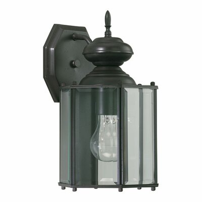 Quorum Lantern 1 Light Five Panel Outdoor Wall Lantern