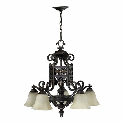Quorum Marcela 5 Light Nook Chandelier