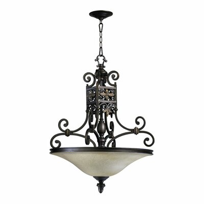 Quorum Marcela 4 Light Inverted Pendant