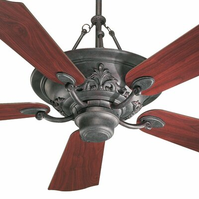 """Quorum 56"""" Salon 5 Blade Ceiling Fan with Remote"""