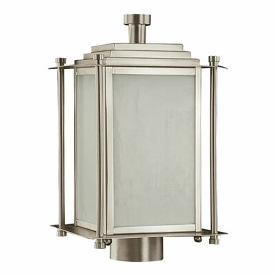 Quorum Shoreham  Outdoor Post Lantern in Satin Nickel