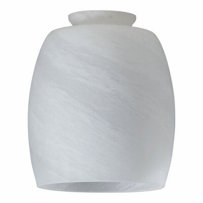 Faux Alabaster Barrel Glass Shade for Ceiling Fan Light Kit