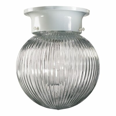 Quorum Ribbed Ball Semi Flush Mount