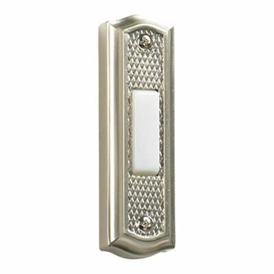 Quorum Zinc Door Chime Button in Satin Nickel
