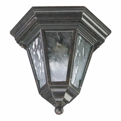 Quorum Baltic 1 Light Cast Flush Mount