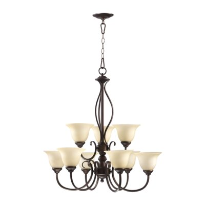 Quorum Spencer 9 Light Chandelier