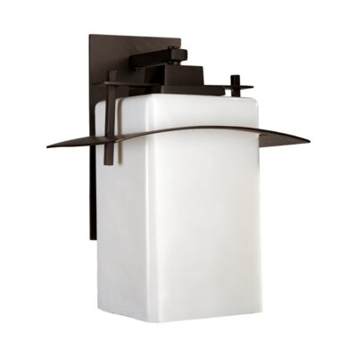 Quorum Kirkland One Light Outdoor Contemporary Wall Lantern in Oiled Bronze