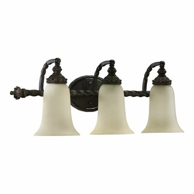 Quorum Alameda 3 Light Wall Sconce with Shade