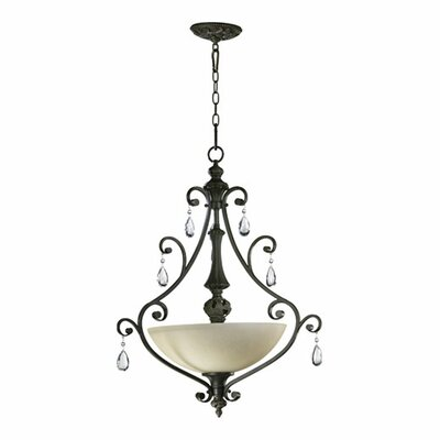 Quorum Traditional 3 Light Pendant Light
