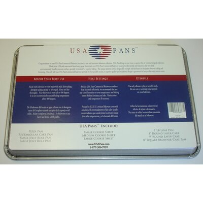 USA Pans Small Jellyroll Pan with Americoat
