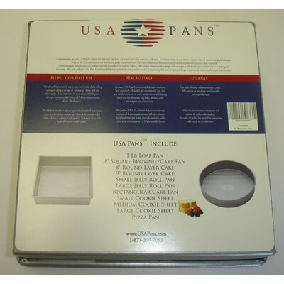 "USA Pans 8"" Square Brownie / Cake Pan with Americoat"