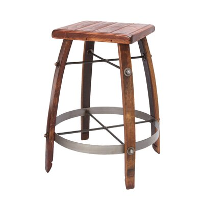 "2 Day Designs, Inc 24-32"" Stave Stool with Wood Top"