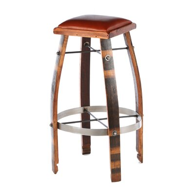 "2 Day Designs, Inc 28 - 32"" Leather  Stave Stool"