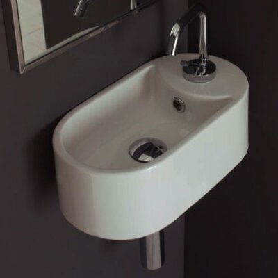 Scarabeo by Nameeks Seventy Wall Mounted Single Hole Bathroom Sink