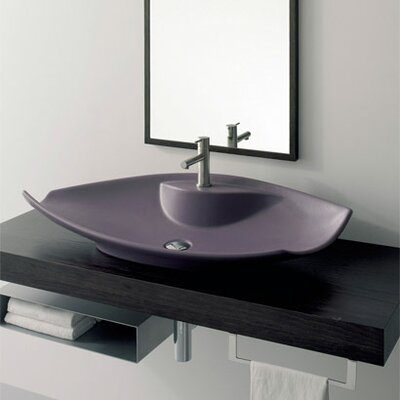 Scarabeo by Nameeks Kong Above Counter Single Hole Bathroom Sink
