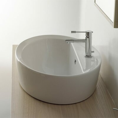 Matty Oval A/R Single Hole Bathroom Sink - Art. 8056/A/R