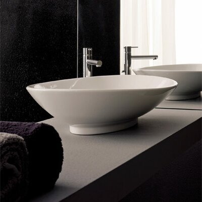 Scarabeo by Nameeks Neck Above Counter Bathroom Sink