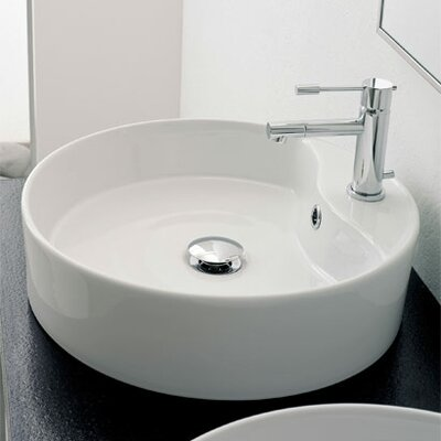Geo Above Counter Single Hole Bathroom Sink - Art. 8029/R