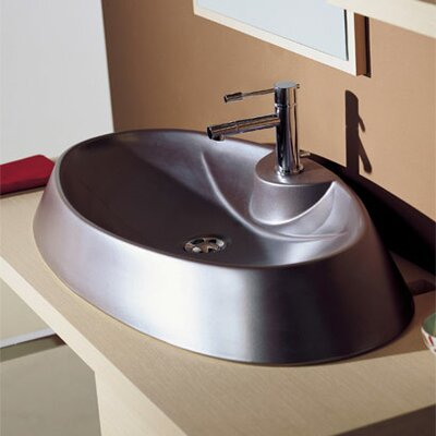 Rugby Above Counter Single Hole Bathroom Sink - Art. 8042/R