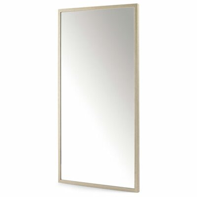 Line Rectangular Mirror with Wooden Frame