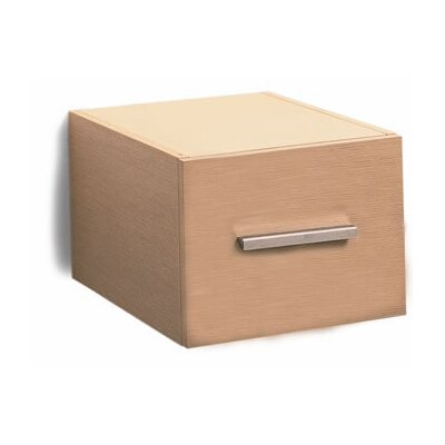 Scarabeo by Nameeks Brio Wall Mounted Wood Single Drawer