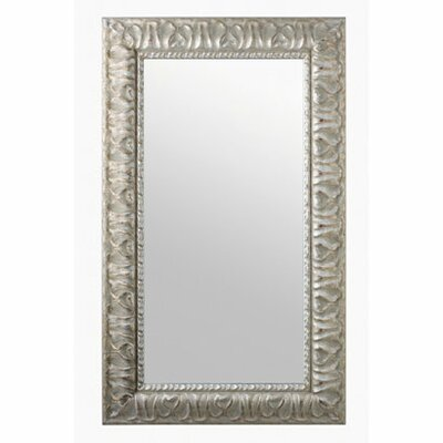 Scarabeo by Nameeks Mirror With Wood Frame in Silver Leaf