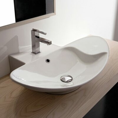 Zefiro Mensola Wall Mounted or Above Counter Bathroom Sink - Art. 8201